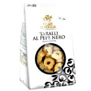 Taralli Biscuits with Pepper (al Pepe Nero) - 250g